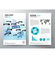 annual report design template cover brochure vector image