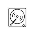 vinyl player icon vector image