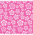 Abstract Retro Seamless Pink Flower Pattern vector image vector image