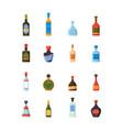 alcoholic bottles restaurant bar alcoholic drinks vector image