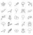 arboraceous icons set outline style vector image vector image