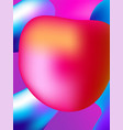 background style abstract liquid splash bubble vector image vector image