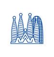 barcelonasagrada familia line icon concept vector image vector image