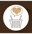 basket sweet biscuits vector image