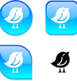 Bird glossy button vector image