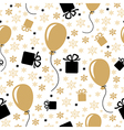 birthday gold pattern vector image vector image