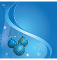 blue card for christmas holidays vector image vector image