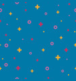 blue memphis seamless pattern 80s - 90s style vector image