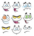 cartoon funny face with expression 1 collection vector image