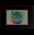 catrina skull day dead vintage dia de los muertos vector image vector image