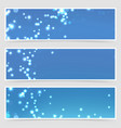christmas magical glitter modern flyer set vector image vector image