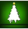 Christmas tree green card EPS 8 vector image