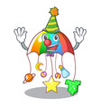 clown baby playing with cartoon hanging toys vector image vector image