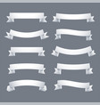 collection white ribbons banner vector image vector image