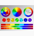 color wheel on a transparent background vector image vector image