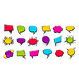 colored peech bubble for comic text isolated vector image vector image