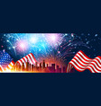 colorful fireworks for independence day america vector image vector image