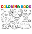 coloring book dinosaur subject image 1 vector image vector image