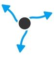 Curve Arrows Icon vector image vector image
