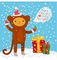 Cute cartoon monkey vector image vector image