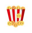 delicious pop corn icon vector image vector image