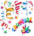 digital blue red carnival vector image