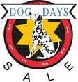 dog days sale banner vector image vector image