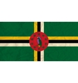 Dominica paper flag vector image vector image