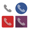 dotted icon handset in four variants vector image vector image