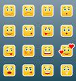 Emoticon smile stickers vector image vector image