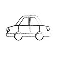figure car design to transportation with tires and vector image vector image