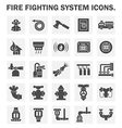 Fire system icon vector image vector image