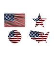 flag usa star flag usa usa map american flag in vector image vector image