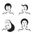 four women figures - fashion beauty concept vector image