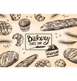 hand drawn bakery vector image