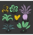 hand drawn with cute cartoon vector image vector image