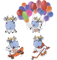 Happy cowsClip Art Cartoon vector image vector image