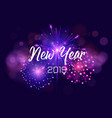 happy new year 2019 with firework and vector image vector image