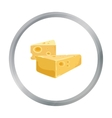 Hard cheese icon in cartoon style isolated on vector image