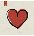 heart symbol on paper vector image vector image