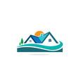 home realty nature landscape logo vector image