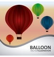 Hot air balloon design vector image vector image