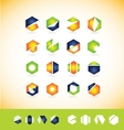 Logo icon set elements vector image