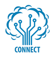 logo to connect to the network tree vector image