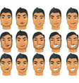 male head icons vector image