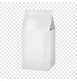 milk or juice carton box mockup realistic style vector image vector image