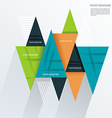 Modern Design with paper triangles vector image vector image