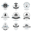 Nautical Logos Templates Set vector image