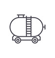 oil tank line icon sign on vector image vector image