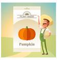 pack of pumpkin seeds vector image vector image